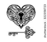 Decorative Heart Shape Key And...
