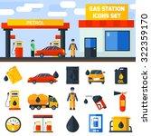 gas petroleum diesel fuel... | Shutterstock .eps vector #322359170