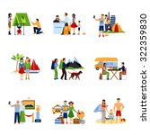 different options of vacation... | Shutterstock .eps vector #322359830