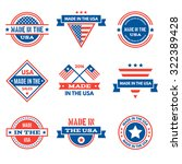 set of various made in the usa... | Shutterstock .eps vector #322389428
