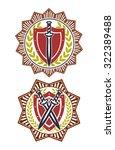 safety symbol badge star | Shutterstock . vector #322389488