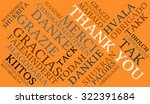 international thank you word... | Shutterstock .eps vector #322391684