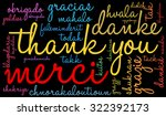international thank you word... | Shutterstock .eps vector #322392173
