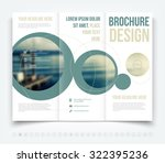 vector modern tri fold brochure ... | Shutterstock .eps vector #322395236