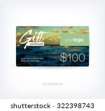 vector gift card design... | Shutterstock .eps vector #322398743