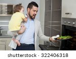 father and child preparing...   Shutterstock . vector #322406318