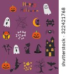 halloween set  icons | Shutterstock .eps vector #322421768