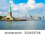 the statue of liberty with the... | Shutterstock . vector #322423718