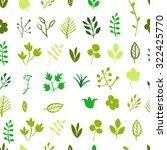 seamless leafs green pattern ... | Shutterstock .eps vector #322425770
