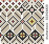 freestyle pixel pattern...   Shutterstock .eps vector #322426820