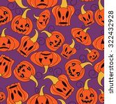 seamless halloween pattern ... | Shutterstock .eps vector #322432928