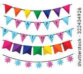 Colorful Bunting And Garland...