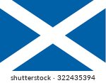 flag of  scotland | Shutterstock . vector #322435394