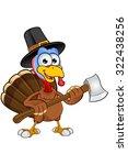 thanksgiving turkey character | Shutterstock .eps vector #322438256