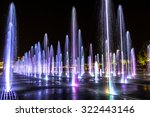 The Shining Fountains In Park...