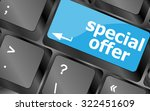 special offer button on... | Shutterstock .eps vector #322451609