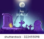 happy halloween poster  vector... | Shutterstock .eps vector #322455098