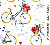 hand drawn watercolor pattern... | Shutterstock . vector #322455290