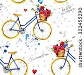 hand drawn watercolor pattern...   Shutterstock . vector #322455290