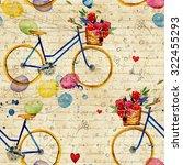 hand drawn watercolor pattern... | Shutterstock . vector #322455293