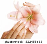 beauty delicate hands with... | Shutterstock . vector #322455668