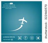 plane icon | Shutterstock .eps vector #322460570