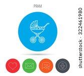 pram icon. newborn stroller... | Shutterstock .eps vector #322461980