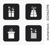 vector modern gift icons set on ...