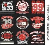 sport typography graphics logo...   Shutterstock .eps vector #322463618
