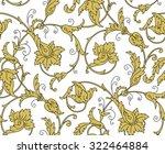 luxury golden seamless...   Shutterstock .eps vector #322464884