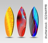 vector surfboards design with...   Shutterstock .eps vector #322464998