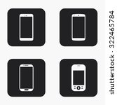 vector modern smartphone icons...