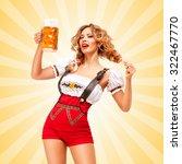 beautiful flirting sexy woman... | Shutterstock . vector #322467770