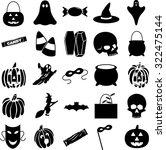 halloween symbols set | Shutterstock .eps vector #322475144