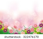 cosmoses background | Shutterstock .eps vector #322476170