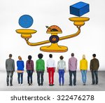 Small photo of Possibility Balance Scales Circumstance Occasion Concept