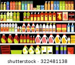 household supplies aisle in the ... | Shutterstock .eps vector #322481138