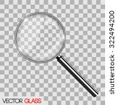 magnifying glass vector... | Shutterstock .eps vector #322494200