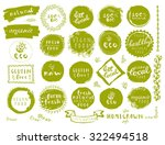 retro style set of 100  bio ... | Shutterstock .eps vector #322494518
