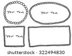 hand draw sketch of four frame... | Shutterstock .eps vector #322494830