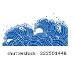 Wave Of Blue. Japanese Style