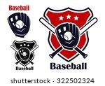 retro baseball sport emblems or ... | Shutterstock . vector #322502324