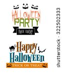 halloween party themed banners... | Shutterstock . vector #322502333