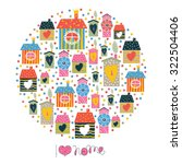 sweet home background. vector... | Shutterstock .eps vector #322504406