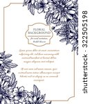vintage delicate invitation... | Shutterstock .eps vector #322505198