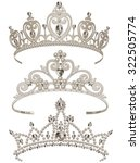 illustration of shining tiaras... | Shutterstock .eps vector #322505774