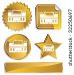 stadium set gold   Shutterstock .eps vector #32250697