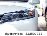 Stock photo beautiful white car headlights 322507736