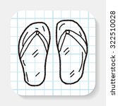 flip flop doodle   Shutterstock . vector #322510028