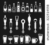 icons of bottles drinks and...   Shutterstock .eps vector #322514558